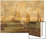 Poeple Walking at the Banks of the River Ij with Ships  1693