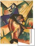 Zwei Pferde Rot Und Blau  1912
