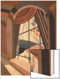 Large Window with a Seat  from 'Relais'  C1920S (Colour Litho)