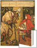 'Little Red Riding Hood'  the Wolf Accosting Her in the Forest
