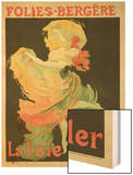 """Reproduction of a Poster Advertising """"Loie Fuller"""" at the Folies-Bergere  1893"""