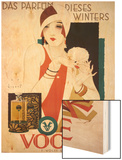 German Advertisement for 'Vogue' Perfume  Printed by Wolff and Sohn  1927