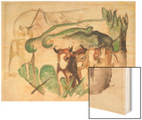 Animals in a Landscape (Three Cows and a Horse)  1913