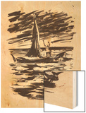 Illustration for 'The Old Man and the Sea' by Ernest Hemingway  1962