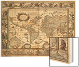 "World Map  from ""Le Theatre Du Monde"" or ""Nouvel Atlas "" 1645"