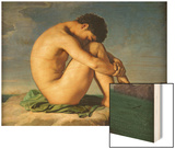 Naked Young Man Sitting by the Sea  1836