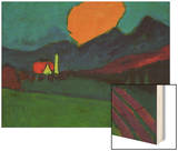 Murnau - Landscape Orange Cloud  c1909