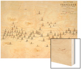 The Battle of Trafalgar  21st October 1805  Positions in the Battle  circa 1830s