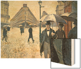 Sketch for 'Paris Street; Rainy Day'  1877 (Pre-Restoration)