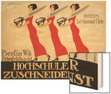 Hochschule Fur Zuschneidekunst  College for Tailor Advertisement  Berlin  Germany