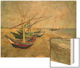 Fishing Boats on the Beach at Saintes-Marie-de-la-Mer  around June 5  1888