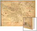 Map of Paris at the Outbreak of the French Revolution  1789  Published by William Blackwood and