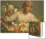 Young Woman with Peonies  1870
