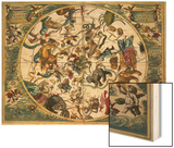 Celestial Planisphere Showing the Signs of the Zodiac from the Celestial Atlas