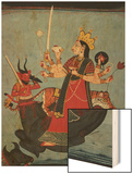 Mandi School Painting of Durga Slays Mahishasura