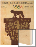 1960 Rome Olympics Poster Capitoline Wolf