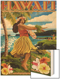 Hawaii Hula Girl on Coast