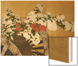 Detail of Flower Carts Edo Period Screen