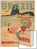 Braniff Airways Travel Poster  Brazil
