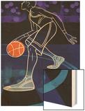 Basketball Player on Blue