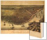 1885  New Orleans Bird's Eye View  Louisiana  United States