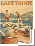 Lake Tahoe  California - Water Skiing Scene