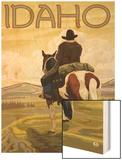 Cowboy & Horse  Idaho