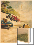 Racing Cars of 1926: Oddly One Car is Carrying Two People the Others Only One