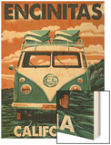 Encinitas  California - VW Van Blockprint