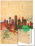 Dallas Watercolor Skyline