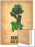 Seattle Watercolor Map