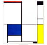 Tableau I, 1921 Reproduction d'art par Piet Mondrian