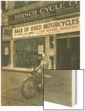 Man on Harley Davidson Motocycle at Hirsch Cycle Co  1927