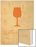 Wine Poster Orange