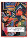 Colored Composition - Hommage to Johann Sebastian Bach  1912