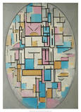 Composition in Oval with Color Planes 1  1914