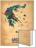 Greece Watercolor Poster