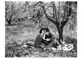 Rudolph Valentino with Alla Nazimova Under Blossom Tree  1921