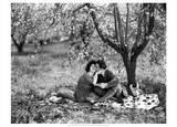 Rudolph Valentino with Alla Nazimova Under Blossom Tree  1921