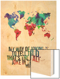 World Map Quote Muhammad Ali