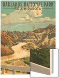 Badlands National Park  South Dakota - Road Scene
