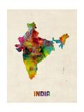 India Watercolor Map