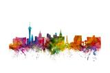Las Vegas Nevada Skyline Reproduction d'art par Michael Tompsett