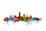 Cleveland Ohio Skyline Reproduction d'art par Michael Tompsett