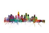 Los Angeles California Skyline Reproduction d'art par Michael Tompsett
