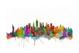 Ligne des toits de New York Reproduction d'art par Michael Tompsett