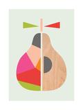 Geometric Pear Giclée par Little Design Haus