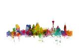 San Antonio Texas Skyline Reproduction d'art par Michael Tompsett