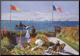 Claude Monet (Jardin a Sainte-Adresse) Art Poster Print