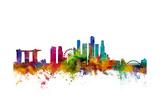 Singapore Skyline Reproduction d'art par Michael Tompsett